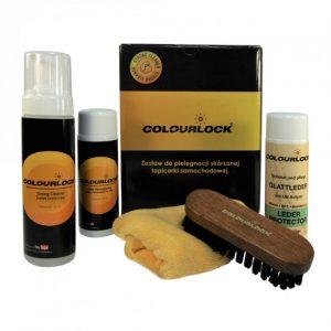 Colourlock Zestaw do czyszczenia skóry z mleczkiem pielęgnującym